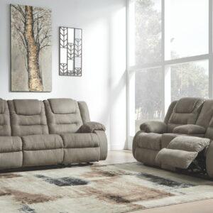 Segburg - Cobblestone - REC Sofa & DBL REC Loveseat with Console