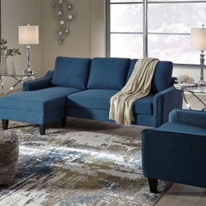 Jarreau - Blue - Queen Sofa Sleeper & Chair
