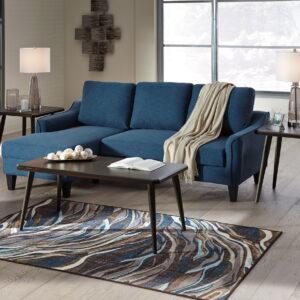 Jarreau - Blue - Queen Sofa Sleeper & Fazani Table Set