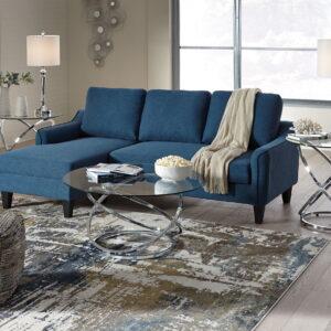 Jarreau - Blue - Queen Sofa Sleeper & Hollynyx Table Set