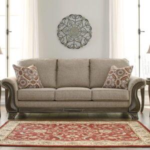 Claremorris - Fog - Sofa & Vintelli Table Set