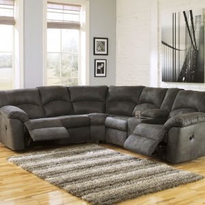 Tambo - Pewter - LAF REC Loveseat & RAF REC Loveseat Sectional
