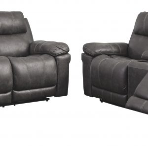 Erlangen - Midnight - PWR REC Sofa with ADJ HDRST, PWR REC Loveseat with CON/ADJ HDRST