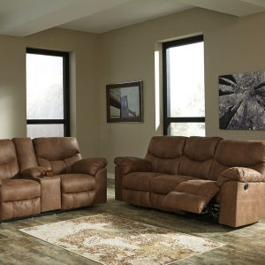 Boxberg - Bark - REC Sofa & DBL REC Loveseat with Console