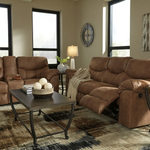 Boxberg - Bark - REC Sofa & DBL REC Loveseat with Console 1