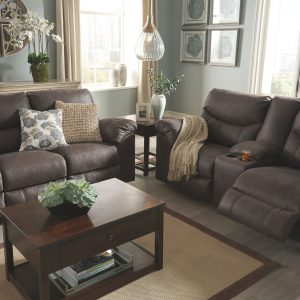 Boxberg - Teak - REC Sofa & DBL REC Loveseat with Console