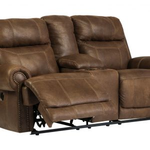 Austere - Brown - DBL REC PWR Loveseat w/Console