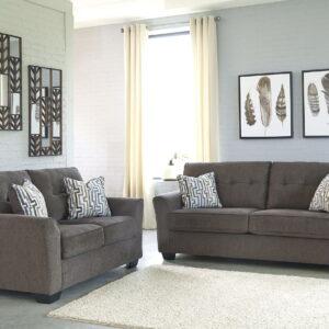 Alsen - Granite - Sofa & Loveseat