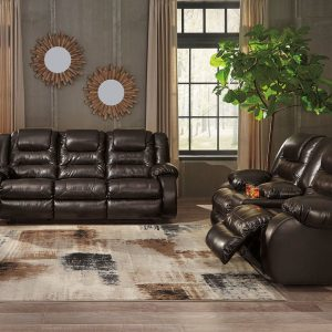 Vacherie - Chocolate - REC Sofa & DBL REC Loveseat with Console