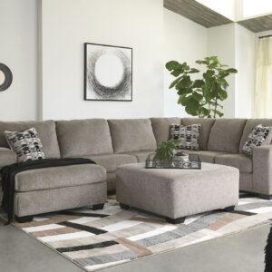 Ballinasloe - Platinum - LAF Corner Chaise, Armless Loveseat & RAF Sofa Sectional 1