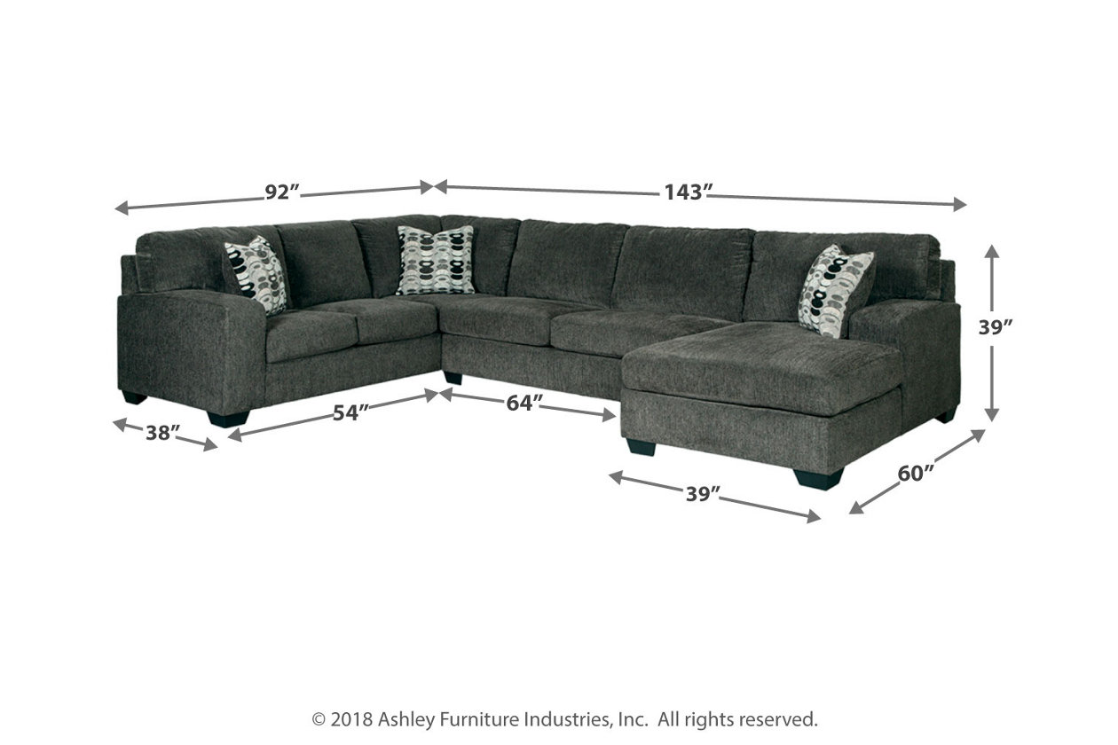 Phenomenal Ballinasloe Smoke Laf Sofa Armless Loveseat Raf Corner Chaise Sectional Uwap Interior Chair Design Uwaporg