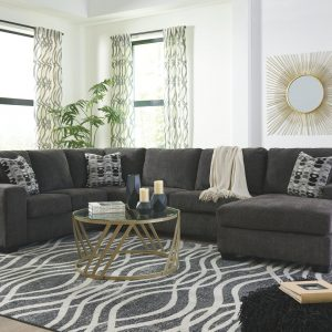 Ballinasloe - Smoke - LAF Sofa, Armless Loveseat & RAF Corner Chaise Sectional 1