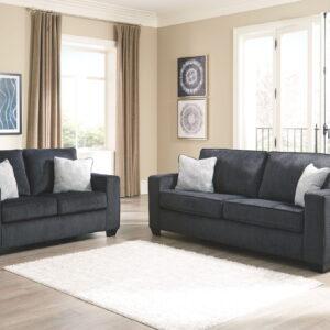 Altari - Slate - Sofa & Loveseat