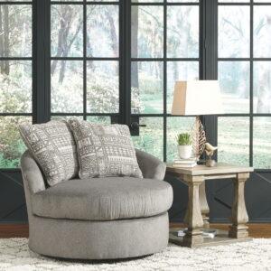 Soletren - Ash - Swivel Accent Chair
