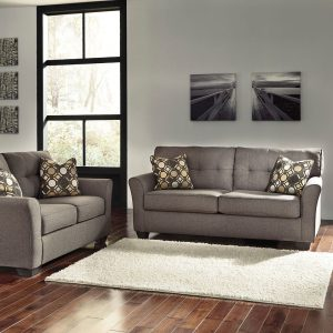Tibbee - Slate - Sofa & Loveseat