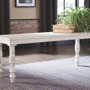 Dannerville - White - Accent Bench