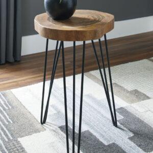 Eversboro - Brown/Black - Accent Table