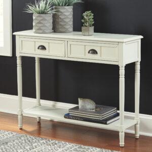 Goverton - White - Console Sofa Table