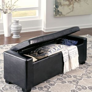 Benches - Black - Upholstered Storage Bench