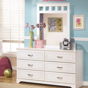 Lulu - White - 3 Pc. - Dresser, Mirror & Twin Panel Headboard 1