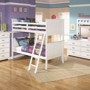 Lulu - White - Bunk Bed (twin/twin) 1