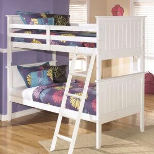 Lulu - White - Bunk Bed (twin/twin)