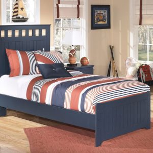 Leo - Blue - Twin Panel Bed
