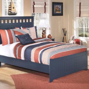 Leo - Blue - Full Panel Bed