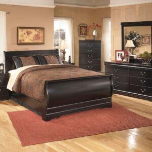 Huey Vineyard - Black - 7 Pc. - Dresser