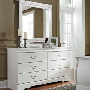 Anarasia - White - Dresser & Mirror