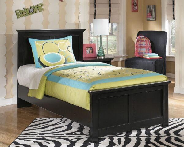 Maribel - Black - Twin Panel Bed