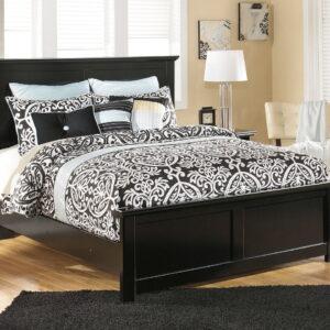 Maribel - Black - Queen Panel Bed