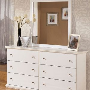 Bostwick Shoals - White - 3 Pc. - Dresser, Mirror & Queen Panel Headboard 1