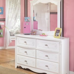 Exquisite - White - Dresser & Mirror