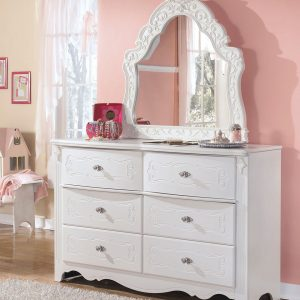 Exquisite - White - Dresser & French Style Mirror