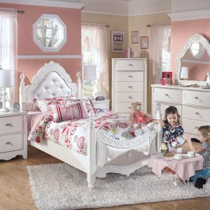 Exquisite - White - Twin Poster Bed 1