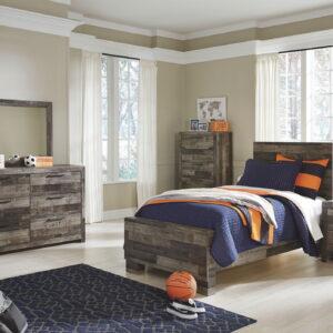 Derekson - Multi Gray - Twin Panel Bed 1