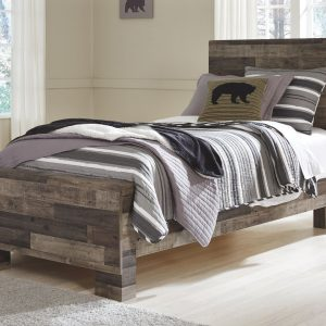 Derekson - Multi Gray - Twin Panel Bed