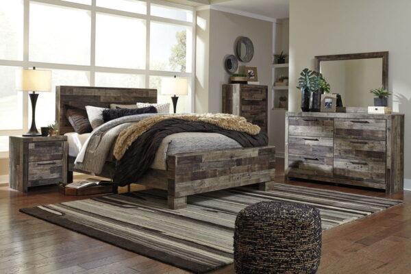 Derekson - Multi Gray - Queen Panel Bed