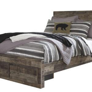 Derekson - Multi Gray - Full Panel Bed with Storage