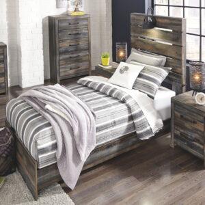 Drystan - Multi - Twin Panel Bed 1