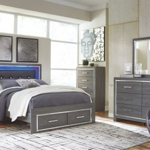 Lodanna - Gray - Queen Panel Bed with Storage 1