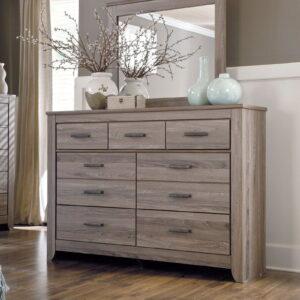 Zelen - Warm Gray - Dresser & Mirror