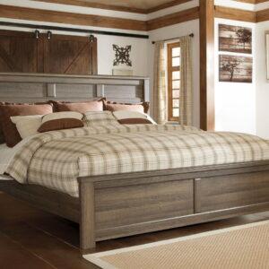 Juararo - Dark Brown - California King Panel Bed
