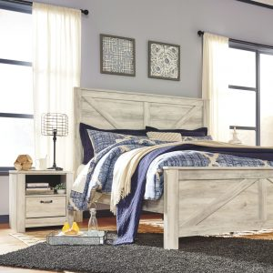 Bellaby - Whitewash - King Panel Bed 3