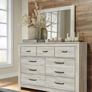 Bellaby - Whitewash - 6 Pc. - Dresser, Mirror, Chest, King Panel Headboard Bed & 2 Nightstands 1