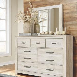 Bellaby - Whitewash - 6 Pc. - Dresser, Mirror & King Panel Storage Bed 1