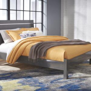 Steelson - Gray - Queen Panel Bed
