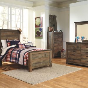 Trinell - Brown - Twin Panel Bed 1