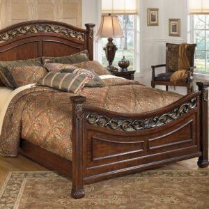 Leahlyn - Warm Brown - Queen Panel Bed